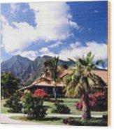 Tropical Plantation Wood Print