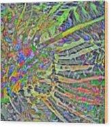 Tropical Rays Wood Print