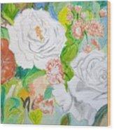 Tropical Rose Wood Print