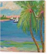 Tropical Sails Wood Print
