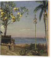 Tropical Scene Wood Print