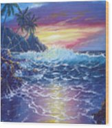 Tropical Seascape Wood Print