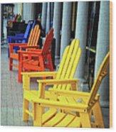 Tropical Seating Wood Print
