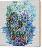 Tropical Skull 2 Wood Print