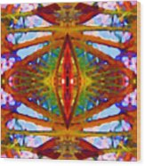 Tropical Stained Glass Wood Print