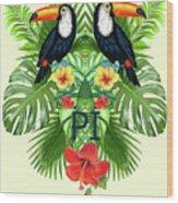 Tropical Summer  Wood Print