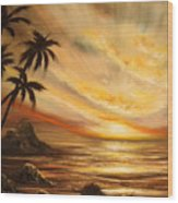 Tropical Sunset 65 Wood Print