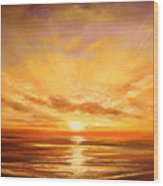 Tropical Sunset 75 Wood Print