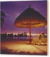 Tropical Tahitian View Wood Print