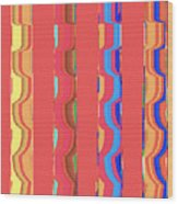 Tropical Vibrations Tapestry Wood Print