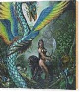 Tropical Temptress Wood Print