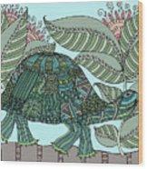 Tropical Turtle Wood Print