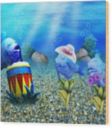 Tropical Vacation Under The Sea Wood Print