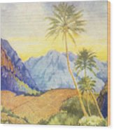 Tropical Vintage Hawaii Wood Print