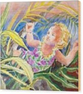 Tropical Water Baby Wood Print