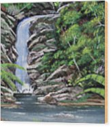 Tropical Waterfall 2 Wood Print