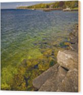 Tropical Waters of Door County Wisconsin Wood Print