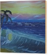 Tropical Wave Wood Print