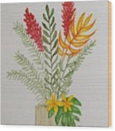 Tropicals Wood Print