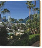 Tropicana And The M G M Grand, Las Vegas Wood Print