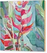 Tropicana Red Wood Print