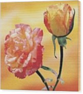 Tropicana Roses 2 Wood Print