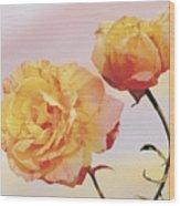 Tropicana Roses Wood Print