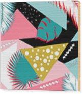 Tropics Colors  Wood Print