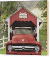 Trostletown Covered Bridge Wood Print