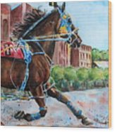 trotter standardbred Horse at the Little Brown Jug Wood Print