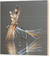 Trout Fly 2 Wood Print