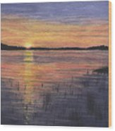 Trout Lake Sunset II Wood Print