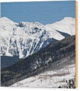 Truchas Peak Wood Print