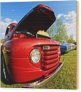 Truck Headlight Wood Print