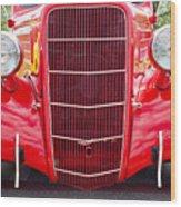 Truck Red Wood Print