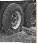 Truck Tires Wood Print