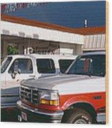 Trucks In Used Car Lot, St. George, Utah Wood Print