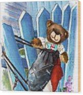 Truffle Mcfurry In Runswick Bay Wood Print