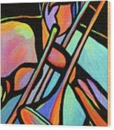 Trombonist Wood Print