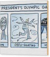 Trump Olympic Games Wood Print