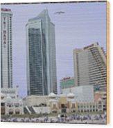 Trump Palace Tajmahal Hotel Atalantic Beaches And Board Walk America Photography By Navinjoshi At  Wood Print