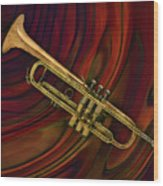 Trumpet 2 Wood Print