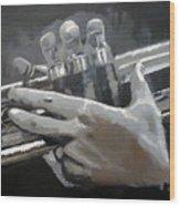 Trumpet Hands Wood Print