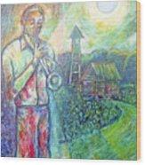 Trumpet Man Wood Print