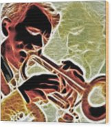 Trumpet Wood Print by Stephen Younts