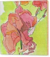 Trumpet Vine Blossom Wood Print