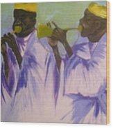 Trumpeters Wood Print