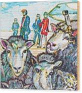 Trump,sheep And Dolly Clone Wood Print