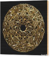 Truncated Hyper Dodecahedron Wood Print