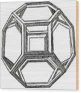 Truncated Octahedron With Open Faces Wood Print
